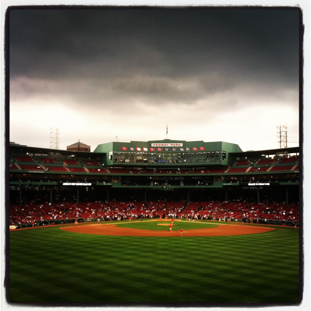 Blue Jays @ Red Sox, 9/7/12. Thanks Instagram for this awesome filter.
