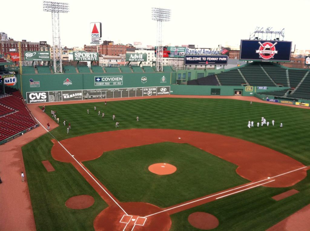 View from the Fenway Park press box, April 2013