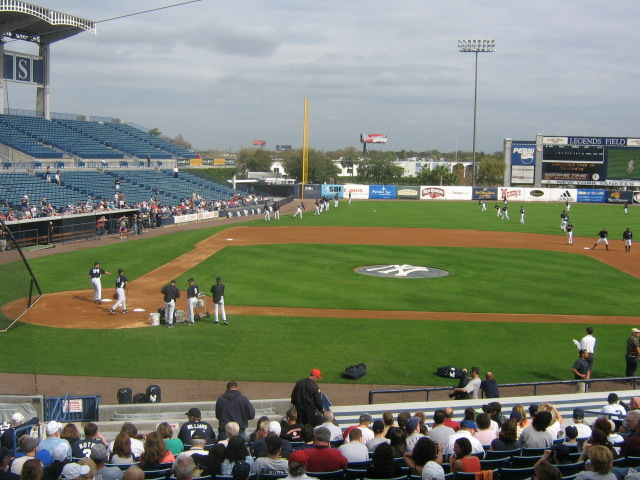 Yankees spring training, February 2008